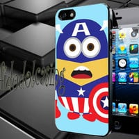 Captain America Despicable Minion Case For iPhone 4/4s, iPhone 5/5S/5C, Samsung S3 i9300, Samsung S4 i9500 *rafidodolcasing*