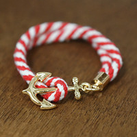 Summer Lovin' Nautical Bracelet, Red