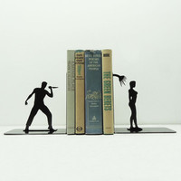 Scary Shower Bookends