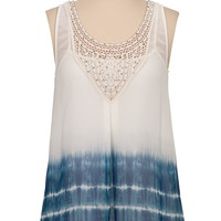 chiffon tie dye tank with sequins