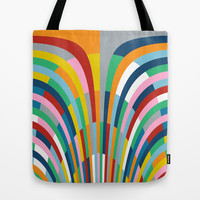 Rainbow Bricks Tote Bag by Project M