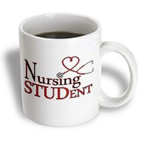 Janna Salak Designs Occupational Gifts - Nursing Student Red Heart Stethoscope - Mugs