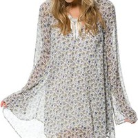 FOR LOVE & LEMONS DAYTRIPPER CHIFFON DRESS