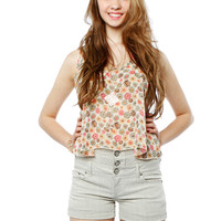 Papaya Clothing Online :: FLORAL GARDEN NECKLACED CHIFFON TOP