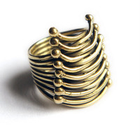 Shompole Collection Gold Corset Ring