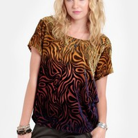 Victoria Velvet Burnout Top By MINKPINK | Threadsence