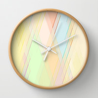 Re-Created Vertices No. 7 Wall Clock by Robert S. Lee