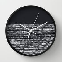 Riverside (Black) Wall Clock by Jacqueline Maldonado