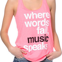 Element x Jac Vanek Music Neon Pink Racerback Tank Top