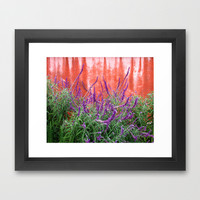 Purple Blooms Framed Art Print by Rosie Brown