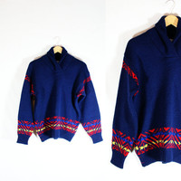 Vintage Ladies Pendleton Virgin Wool Sweater 1960's Pristine