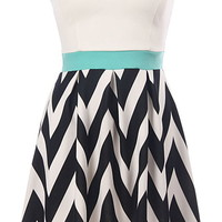 Chevron Breeze Dress | Strapless Chevron Print A-Line Dresses | Rickety Rack