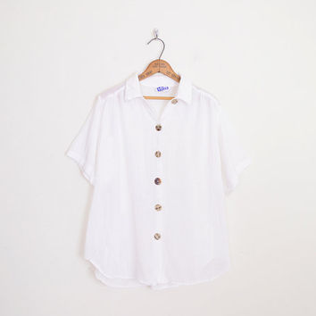 White Gauze Shirt Gauze Blouse Gauze Top Oversize Shirt Hippie Shirt Hippie Blouse Hippie Top Boho Shirt Boho Blouse Boho Top M L XL XXL