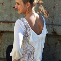Lace & Bows Blouse {Ivory}
