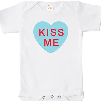 Kiss Me Baby Bodysuit, One Piece, Valentine's Day Baby Clothes