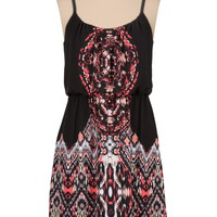 medallion Print tank dress