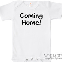Coming Home Baby Bodysuit, One Piece, Birth Announcement