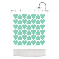 Kess Inhouse Project M ''Up and Down Hearts'' Shower Curtain