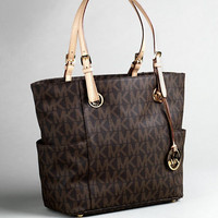 Handbags | Handbags | East/West Signature Leather Tote Bag | Lord and Taylor