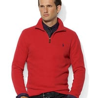 French-Rib Half-Zip Mockneck Pullover | Lord and Taylor
