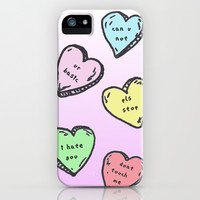 Not So Sweet Candy Hearts iPhone & iPod Case by Shaina M