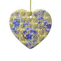 Floral Heart Christmas Tree Ornament from Zazzle.com