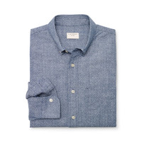 Slim-Fit Chambray Dot Shirt
