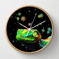 Gecko Lizard Close up 3d digital Art Wall Clock by Bluedarkat Lem