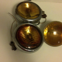 Vintage Amber Fog Lights, Fog Lights, Rat Rod Lights, Hot Rod Light, Amber Light