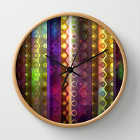 Joy Wall Clock by SensualPatterns