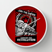Star wars Stormtrooper Join the Empire support the revolution Decorative Circle Wall Clock Watch by Three Second