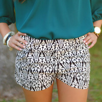 Page 6 Boutique - Damask Shorts