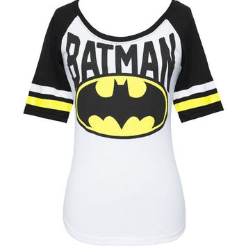 Batman Logo Juniors Raglan T-shirt