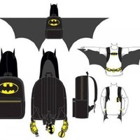 Backpack - DC Comics - Batman - Hooded Costume with Wings