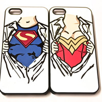 His and hers superhero case set the dynamic duo phone case set iPhone 5 s c Case / iPhone 4 Case / Galaxy S4 Case / Galaxy S3 Case