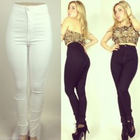 High Waist White Skinny Jeans Sizes 1,3,5,7,9,11,13,15