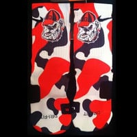 Bulldogs Parody Custom Nike Elite Socks