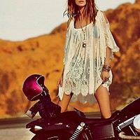Jen s Pirate Booty for Free People Womens On the Open Road Lace Tunic -