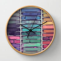 Pastels Wall Clock by Christine Hall