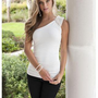 EMBELLISHED SHOULDER TOP | Body Central