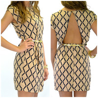 Boston Cream Belted Dress
