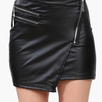 Zip Up Mini Skirt