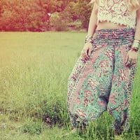 Handmade Harem Pants, Fabric CHOICE, Hippie Pants, Gypsy Pants, Maternity, Aladdin, Romper, Baggy, Genie, Yoga, Wide Leg, Bohemian pants