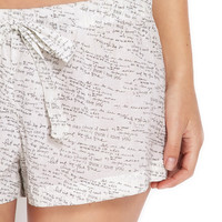 Love Letter PJ shorts