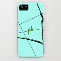 Love Birds Geometry iPhone & iPod Case by RichCaspian