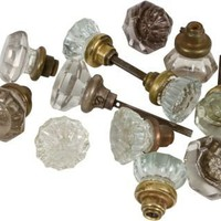 One Kings Lane - Laurie Frank - Vintage Crystal Doorknobs, Set of 12