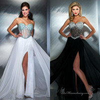 Sexy Prom Wedding dress Ball Bridal party evening long gown Graduation Formal