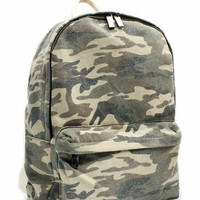 Faded Camo Canvas Backpack
