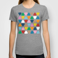 Diamond Hearts on Grey T-shirt by Project M