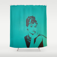Audrey Shower Curtain by Kristyn Kubiak